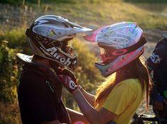 Mountain bike dating couple.