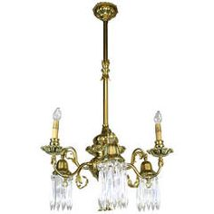 Converted Gas-Electric Decorative Sheffield-Style Chandelier