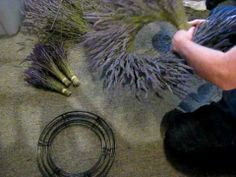 Making a Lavender Wreath - simple method (and great background music)