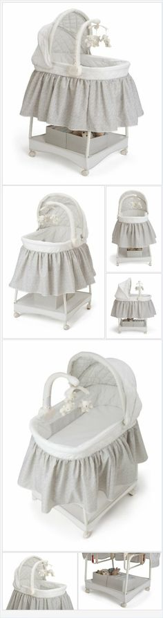 Delta Children Smooth Glide Bassinet, Silver Linings - Every Thing Baby