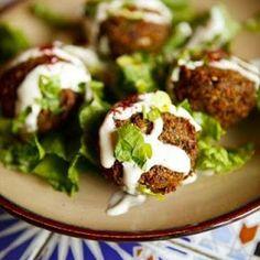 Arabic Food Recipes: Falafel with Garlicky Tahini Sauce Recipe