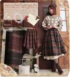 Mori Girl Fashion, Lolita Fashion, Cute Fashion, Vintage Fashion, Fashion Outfits, Fashion Styles, Tokyo Street Fashion, Japanese Street Fashion, Grunge Style