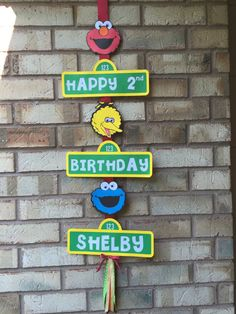 Sesame Street Birthday Sign by PartiesbyMel on Etsy