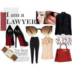 I am a lawyer, created by whoisash #professional #outfit Or at least I hope to be soon