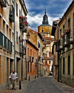 Street in Segovia, Spain