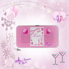 Love & Champagne Mini Speaker by #MoonDreamsMusic #MiniSpeaker #LoveAndChampagne #ValentinesDay