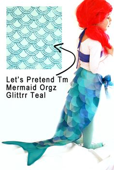 Make this Mermaid Tail using glitter scalloped fabric from @joannstores