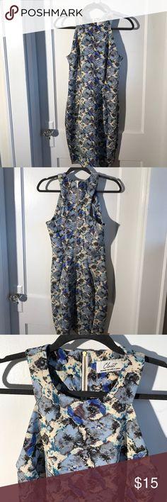 Floral dress Racerback dress, high neck, scuba material Closet Dresses Midi
