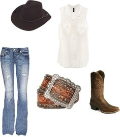 """""""Country girl summer time."""" by maplerosekayti ❤ liked on Polyvore"""