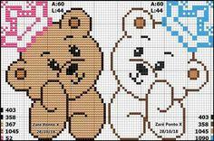 Unicorn Cross Stitch Pattern, Baby Cross Stitch Patterns, Cross Stitch Baby, Cross Stitch Designs, Pixel Crochet, C2c Crochet, Crochet Home, Kids Knitting Patterns, Crochet Dolls Free Patterns