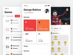 Soccer live Soccer live designed by Tommao  . Connect with them on Dribbble; the global community for design App Ui Design, Mobile App Design, Mobile Ui, Live Soccer, Football Predictions, Sports App, Premier League, Connect, Asian Kitchen