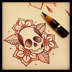 I want something like this but the skull a little different