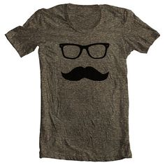 Unisex T Shirt Mustache Wayfarer American Apparel Mens Womens Short Sleeve Tee Movember No Shave November - Awsome Shirts - Ideas of Awsome Shirts - Moustache tshirt from FullSpecturmClothing American Apparel, American Clothing, Mode Style, Style Me, Sweet Style, Mustache Man, Textiles, Look Chic, Moda Masculina