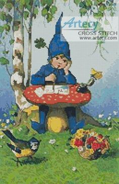 Elf School Counted Cross Stitch Pattern http://www.artecyshop.com/index.php?main_page=product_info&cPath=31_34&products_id=1195