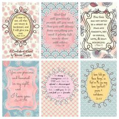 Encouragement cards for your purse, etc. Scripture, free printable