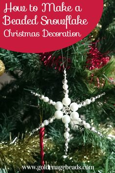 We have another festive tutorial for you today, this time on how to make a beaded snowflake which you can hang on your Christmas Tree or wall as a decoration. Once you've made one, you may be tempted…