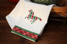 Plaid Horse Embroidered Kitchen Towel  Great Gift by YeehawSisters, $14.50