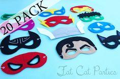 felt superhero masks  Other templates:  http://cutesycrafts.blogspot.com/2012/07/superhero-party-masks.html  https://docs.google.com/folder/d/0B8w-5XfHwA3tR0JYRXRXNm5ZMUU/edit