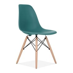 Teal Charles Eames Style DSW Chair | Side & Cafe Chairs | Cult UK