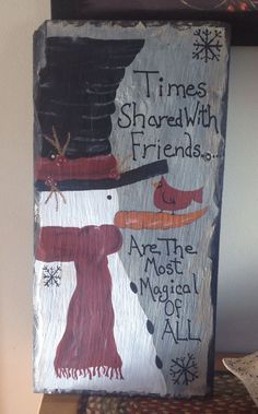 Wooden snowman craft.                                                       …