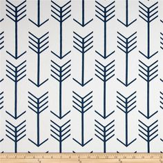 Premier Prints Arrow Twill White/Premier Navy from @fabricdotcom  Screen printed on cotton twill, this versatile lightweight fabric is perfect for window accents (draperies, valances, curtains, and swags), accent pillows, duvet covers, and upholstery projects.