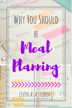 After I started meal planning, I cut my grocery bill in half and now I always know what's for dinner! Here's why you should start too, even as a student!