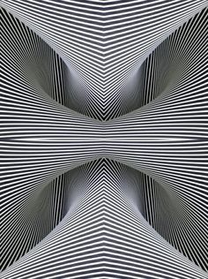 beautiful illusion from the format of op art that creates the illusion of the image being Op Art, Illusion Kunst, Graphisches Design, Creative Logo, Art Plastique, Fractal Art, Fractal Images, Optical Illusions, Optical Illusion Art
