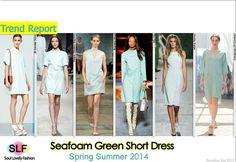 Sea-foam Green Short #Dress #Fashion Trend for Spring Summer 2014 #Seafoam #Green #spring2014 #colors #trends