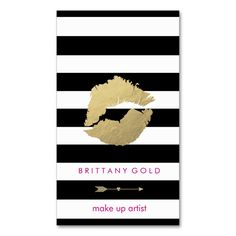 Shop Makeup Artist Business Card - Chic Gold and Black created by ENIGMALUXE. All You Need Is, Black Makeup Artist, Makeup Artist Business Cards, Standard Business Card Size, Top Of The World, Things To Come, Make It Yourself, Chic, Create