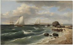 Thomas Birch - View from Staten Island to Sandy Hook, 1827