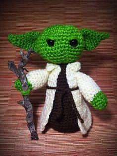 ded452a7d71 Yoda Amigurumi Star Wars Inspired Crochet Yoda Crochet Stars