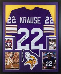 635051d3227 Paul Krause Framed Jersey Signed JSA COA Autographed Minnesota Vikings at  Amazon's Sports Collectibles Store