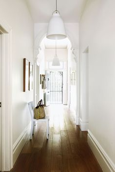 Victorian Terrace Hallway, Edwardian Hallway, Narrow Hallway Decorating, Foyer Decorating, Cottage Hallway, Cottage Renovation, Modern Staircase, Australian Homes, Victorian Homes