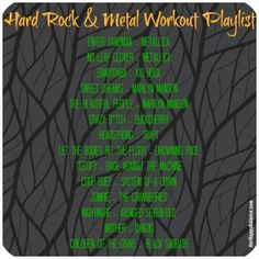 Hard Rock & Metal Workout Playlist | via HerHappyBalance.com