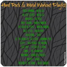 Hard Rock & Metal Workout Playlist | via HerHappyBalance.com