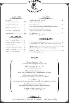 Walter Foods - Brooklyn, New York - Raw Bar, Cocktails, Chops, Seafood