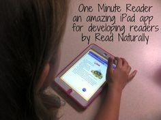 The One Minute Reader app for iPad helps developing readers with their fluency, vocabulary and comprehension!!