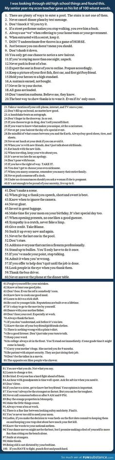 A list of 100 wisest phrases