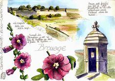 ... De-ci de-là, les carnets de voyage, dessins, aquarelles ... de Nathalie Lefebvre ...: En Poitou-Charentes ...