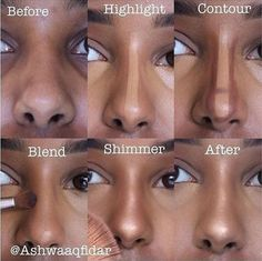 The Ultimate Full-Face Drugstore Makeup Guide For Beauty Addicts Step by Step Tutorial of Nose Contouring Related posts: Full-Face DRUGSTORE Makeup Tutorial + erschwingliche Pinsel Nose Contouring, Contour Makeup, Contour Nose, Contouring Tutorial, Contouring Guide, Contouring Products, Highlighting Contouring, Step By Step Contouring, Eyebrow Makeup
