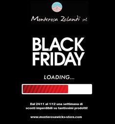 Da venerdì 24/11 a venerdì 1/12 non perdetevi il BLACK FRIDAY MONTEROSA! Una settimana di imperdibili sconti su tantissimi prodotti! :) Vi aspettiamo! www.monterosawicks-store.com