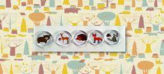 Woodland Animal Magnet Set Woodland Baby by LoveInTheCityShop