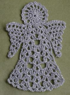 Although no-one has expressed an interest I thought I would share my pattern for the angel bookmark as I think it could also make an attractive decoration. (We all know what is coming up in four mo...