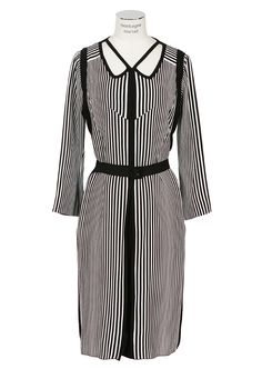 Marc Jacobs Dresses :: Marc Jacobs black and white striped dress | Montaigne Market