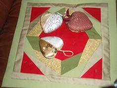 Joulukranssi ja sydämet