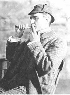 this photo of William Gillette as SH comes from a wonderfully curated page on SH in a larger site called An International Catalogue of Superheroes.  Worth a visit.