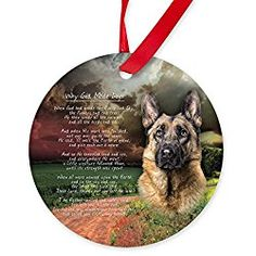 """Why God Made Dogs"""" German Shepherd Ornament (Round) - Round Christmas Ornament"""