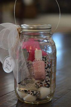 diy manicure gift sets ideas | Easy DIY Mason Jar Manicure Kit & Lantern Gift | Gift Ideas