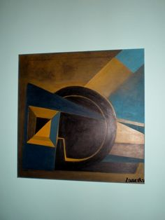 """Układ 04"", akryl na płótnie (60/60) / The system, acrylic on canvas (60/60) / Das System, Acryl auf Leinwand (60/60) ;  130  €  /  http://pl.dawanda.com/shop/zamotka http://de.dawanda.com/shop/zamotka http://en.dawanda.com/shop/zamotka http://zamotka.netgaleria.pl/"