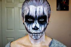 Tête de mort comme maquillage Halloween
